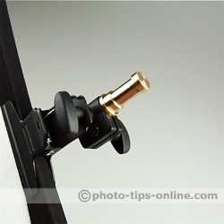 LumoPro Reflector Arm Holder: metal stud to mount a flash on