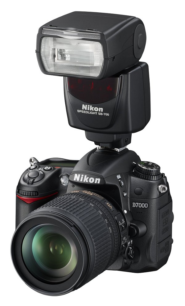 Nikon Speedlight SB-700 flash: on camera