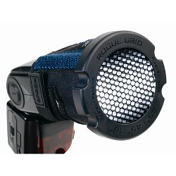 Rogue Photographic Grid: mounted on a flash with the included adjustable strap