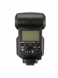 Sony HVL-F43AM flash: back panel, controls, LCD