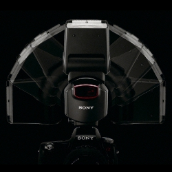 Sony HVL-F43AM flash: Quick Shift Bounce, 90 degrees left and right