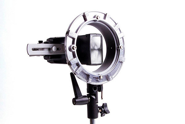 Double Flash Speedring Bracket (LP739): used with a single flash