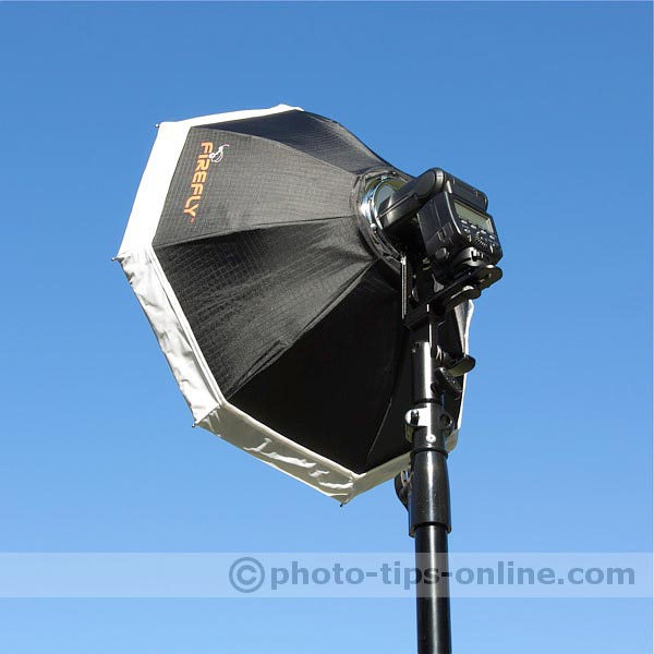 Aurora Firefly Beauty Box flash diffuser: assembled, back