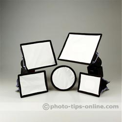Aurora MINI/MAX Softbox flash diffuser: the whole line up