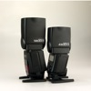 Canon Speedlite 430EX II vs. Canon Speedlite 580EX II: heads vertical, side view #1
