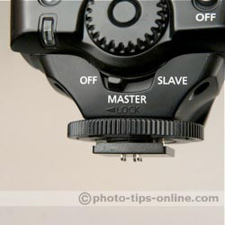 Canon Speedlite 580EX: master/salve switch
