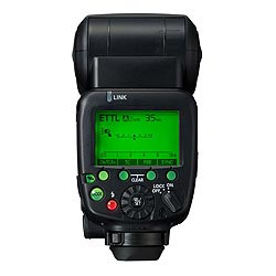 Canon Speedlite 600EX-RT: back view, green backlight
