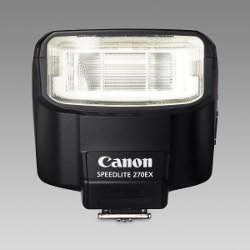 Canon Speedlite 270EX flash: front view