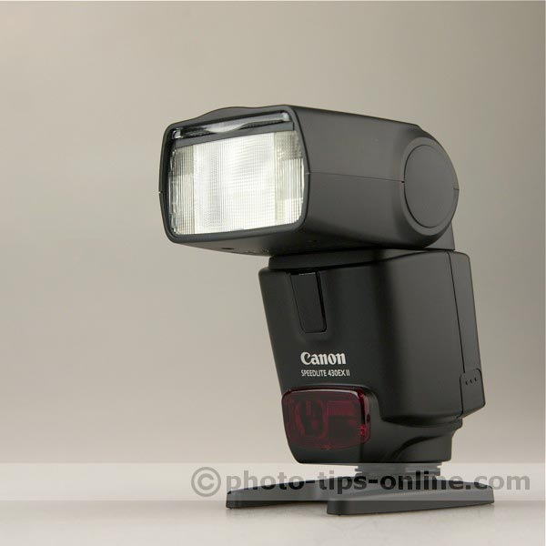 Canon Speedlite 430EX II flash: angle view