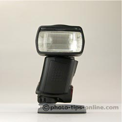 Canon Speedlite 430EX II flash: head 90 degrees to the right, side view