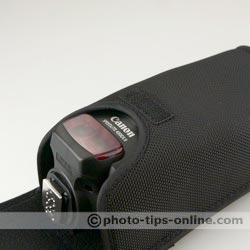 Canon Speedlite 430EX II flash: flash in the pouch