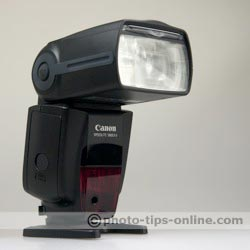 Canon Speedlite 580EX II flash: front angle view