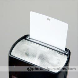 Canon Speedlite 580EX II flash: built-in white reflector card
