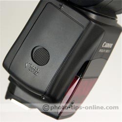 Canon Speedlite 580EX II flash: battery compartment door