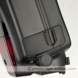 Canon Speedlite 580EX II flash: terminals, covers