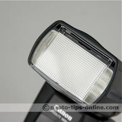 Canon Speedlite 580EX II flash: wide-angle diffuser