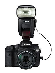 Canon Speedlite 600EX-RT: attached to Canon 7D camera body and connected with SR-N3 cord