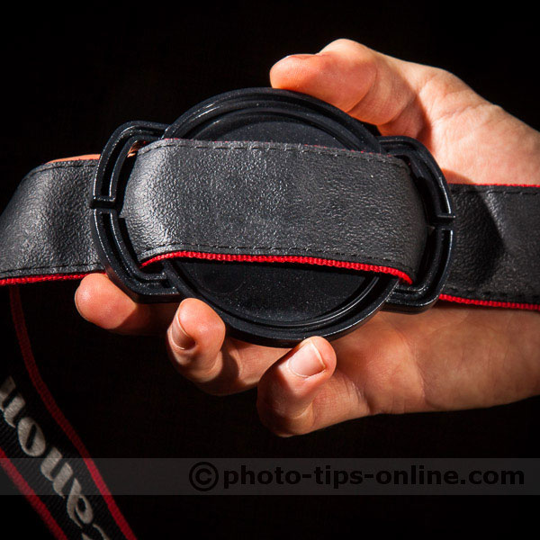CapBuckle: attached to a strap, back side