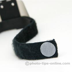 Demb Flip-it! flash reflector: Velcro patch securing strap end