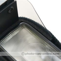 Demb Flip-it! flash reflector: on a flash, attachment close up