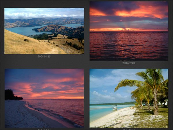 Focus Point iPad photo browser: 4 large thumbnails; clean user interface