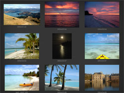 Focus Point iPad photo browser: 9 thumbnails per page