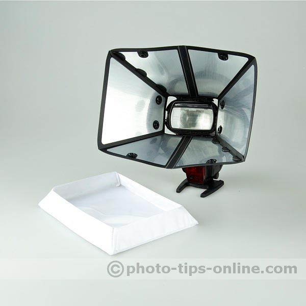GamiLight BOX 21 flash diffuser: high-reflective silver lining for minimal light loss