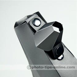 GamiLight SPOT 2 snoot: front attachment hanging off the side, no need to completely remove