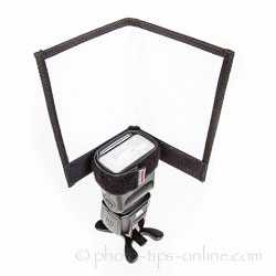 Honl Photo Double Gobo / Reflector: as bounce card with one side flagged