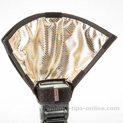 Honl Photo Light Paddle: soft-gold attachment