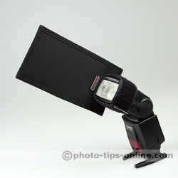 Honl Photo Speed Gobo: attached a narrow flash head side