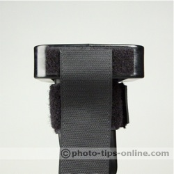 Honl Photo Speed Grid: on the flash, side view, strap