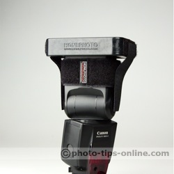 Honl Photo Speed Grid: on the flash, tense straps