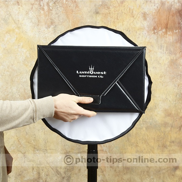 Honl Photo traveller16 softbox: compared to LumiQuest Softbox LTp