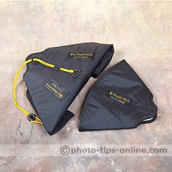 Honl Photo traveller16 softbox: folded flat for storage, compared to traveller8 softbox