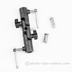 Karamy KFB-N3 umbrella adapter: adapter and two included spigots (studs)
