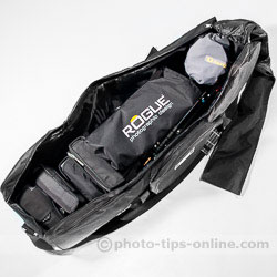 Karamy KSB-KB105 lighting kit bag: speedlight setup