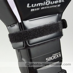LumiQuest Big Bounce flash diffuser: additional Velcro strap