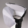 LumiQuest ProMax System flash diffuser: attaching diffusing screen while white insert is in place