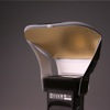 LumiQuest ProMax System flash diffuser: gold insert attached