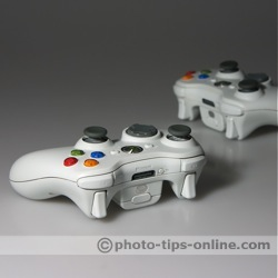 LumiQuest ProMax System flash diffuser: sample shot, Xbox controllers