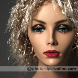 LumiQuest ProMax System flash diffuser: sample shot, mannequin head