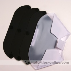 LumiQuest ProMax System flash diffuser: all inserts, back side