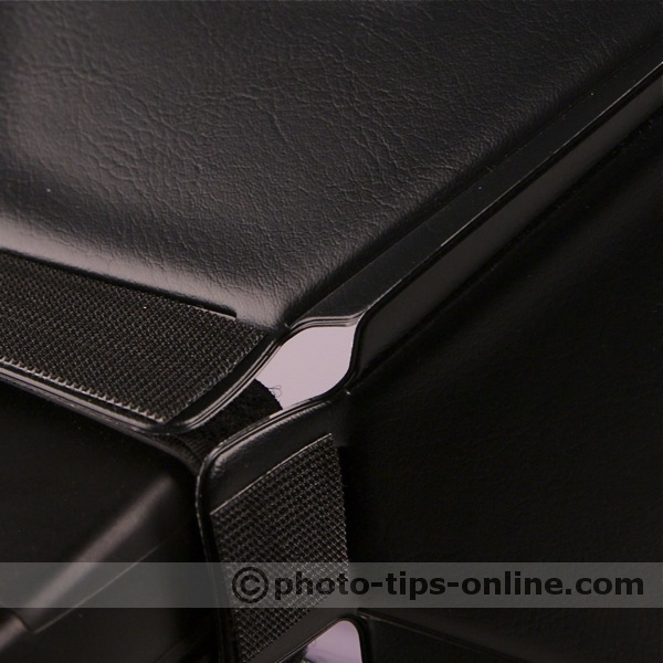 LumiQuest Softbox III flash diffuser: hook fasteners