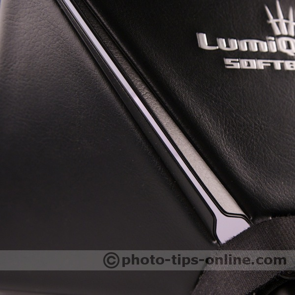 LumiQuest Softbox III flash diffuser: side panel flaps