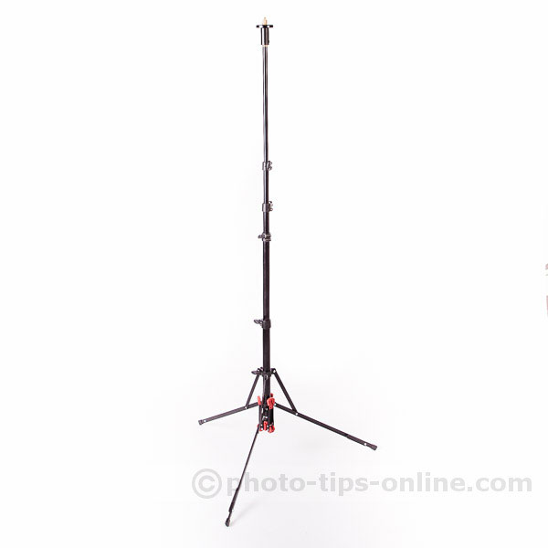 LumoPro Convertible light stand / monopod: extended tall, about 5 feet