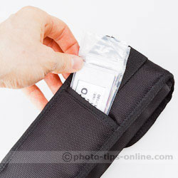 LumoPro LP180 flash: carrying pouch, back pocket, belt loop