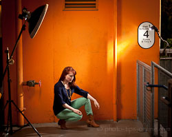 LumoPro Beauty Dish: dish, sock, second flash, portrait, behind the scenes