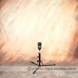 LumoPro Ultra Compact Light Stand: using with a speedlight, lowest position