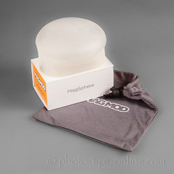 MagMod MagSphere: box and carrying pouch